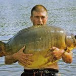 Carpe miroir 35 Kgs – Lac de curtons (Rainbow Lake) – Lac privé