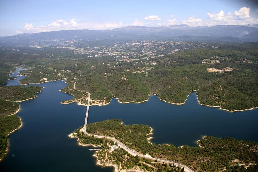 Lac de Saint Cassien - Vue aérienne