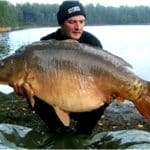 Carpe miroir 34 Kgs – Lac de curtons (Rainbow Lake) – Lac privé – Rob Hughes