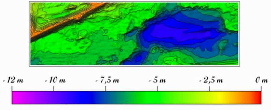 Application Be On Ssil : cartes des fonds des lacs, étangs et fleuves 6