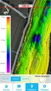 Application Be On Ssil : cartes des fonds des lacs, étangs et fleuves 2