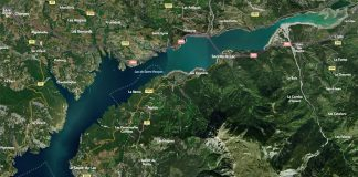 Vue satellite lac de Serre-Ponçon
