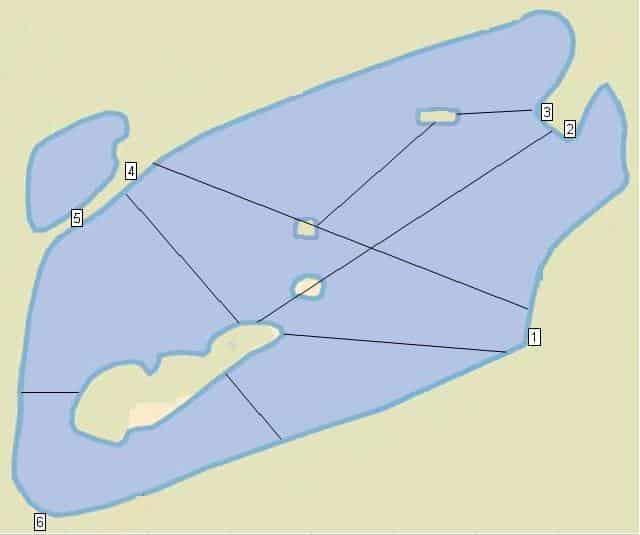 Postes de pêche de l'étang Marco
