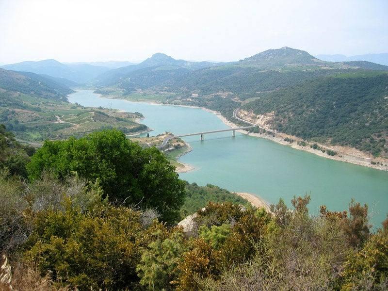 Lac de Caramany - barrage d'Agly