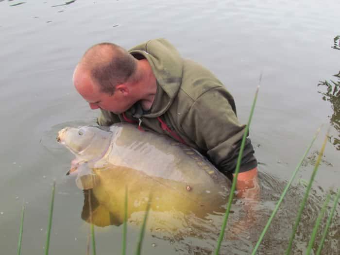 Carpe miroir 34,8 Kgs - Domaine de la Ribière - Lac privé - Yohann Van der Maelen 4