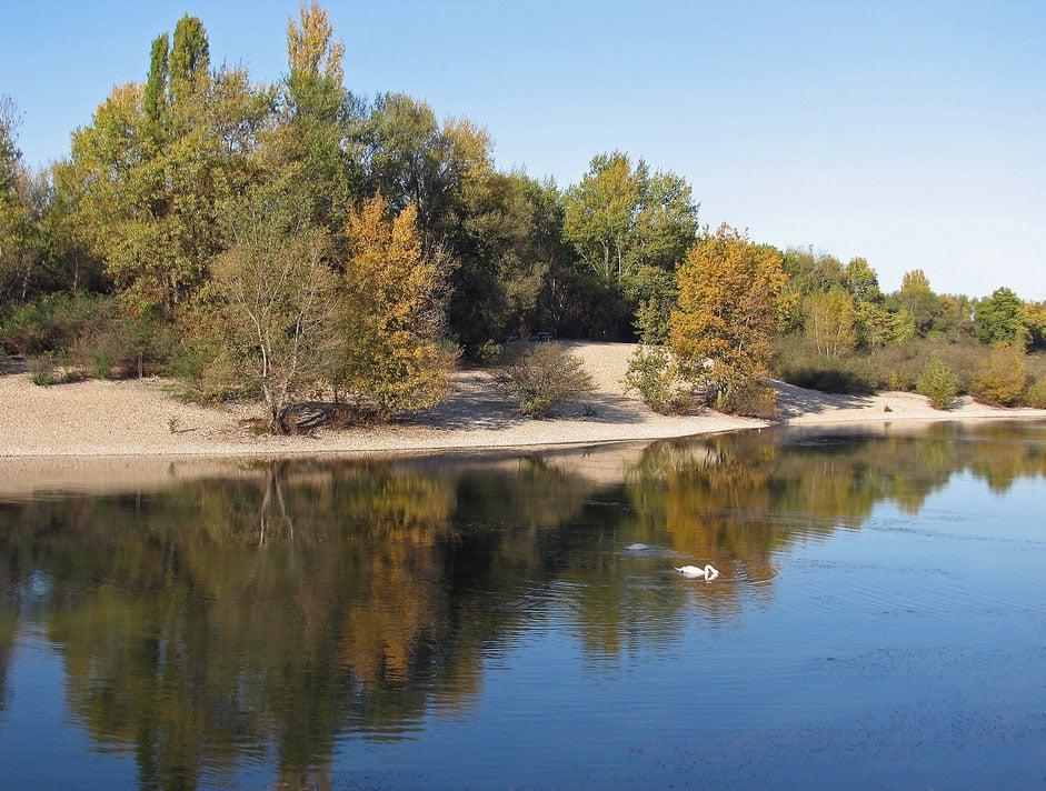 Berge du lac des Eaux Bleues - Miribel Jonage