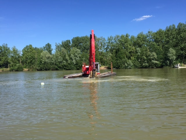 travaux lac Grand Fontenay