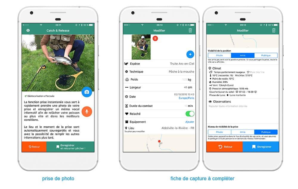 FishFriender, un carnet de pêche numérique pour vous aide à mieux pêcher 3