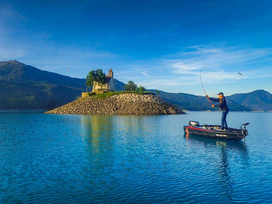Lac de Serre-Ponçon - Grand lac public - Hautes Alpes (05) 4