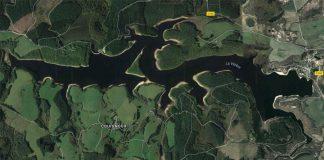 Vue satellite du lac de Viam