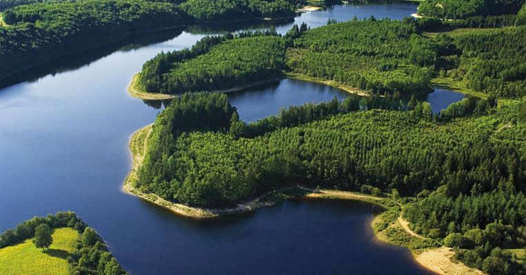 Lac de Viam vue aérienne