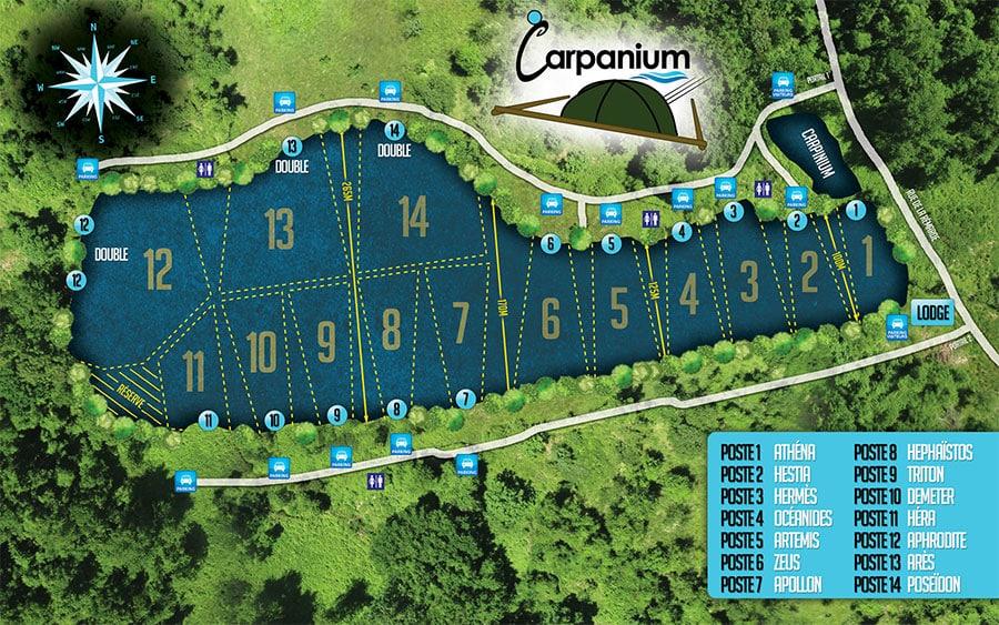 Etang Carpanium les postes