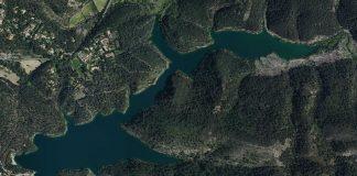 Lac de Bimont vue aérienne