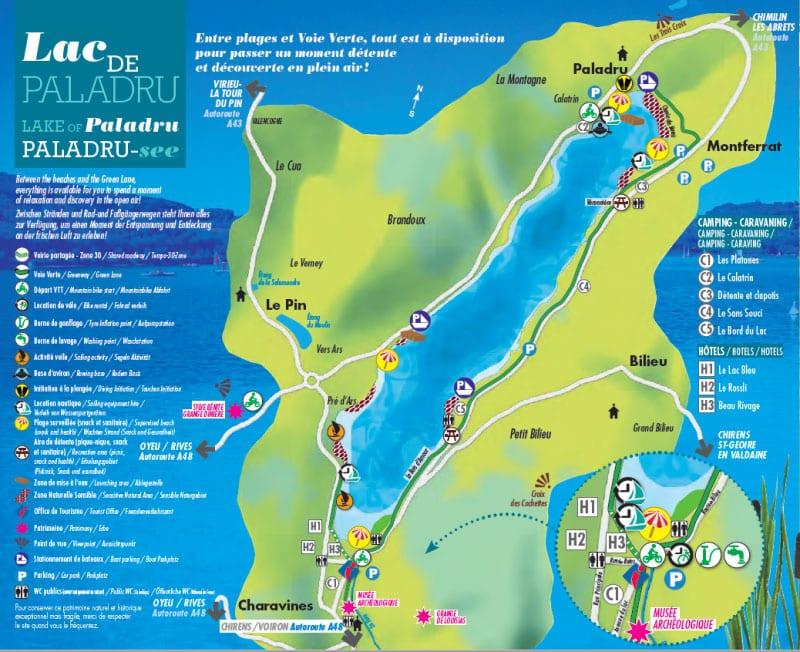 Plan du lac de paladru