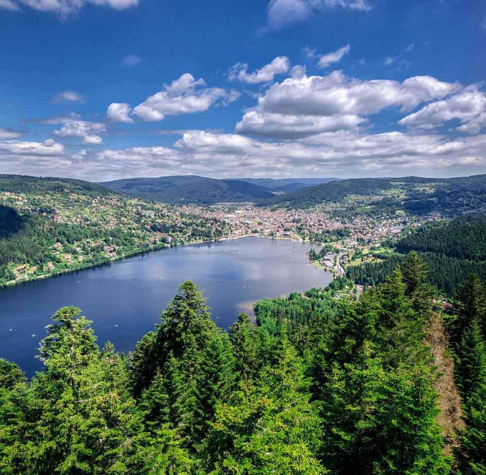 Vue aérienne du Lac de Gérardmer