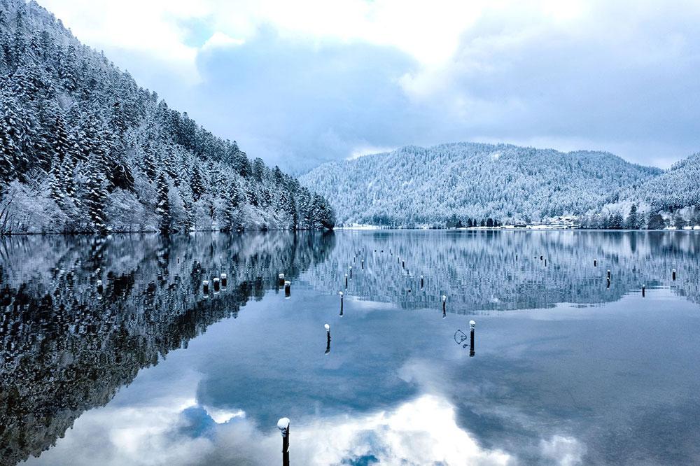 lac de Gérardmer en hiver