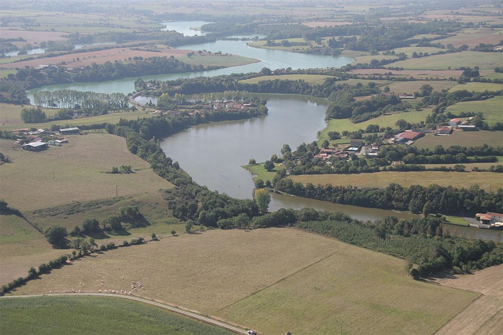 Vue aérienne Lac de Rochereau