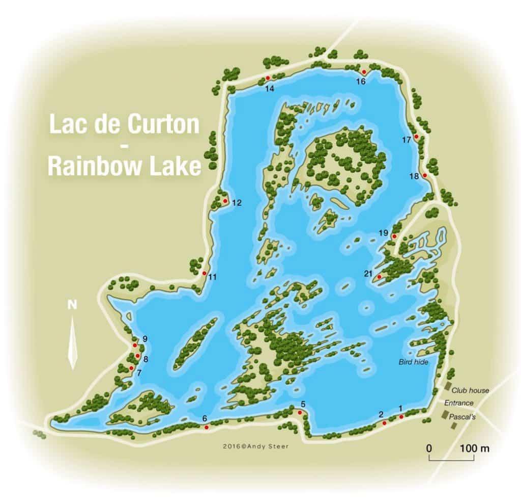 Postes du lac de Curton - Rainbow Lake
