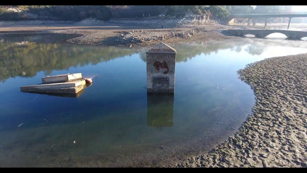 Marnage important du lac de Carcès