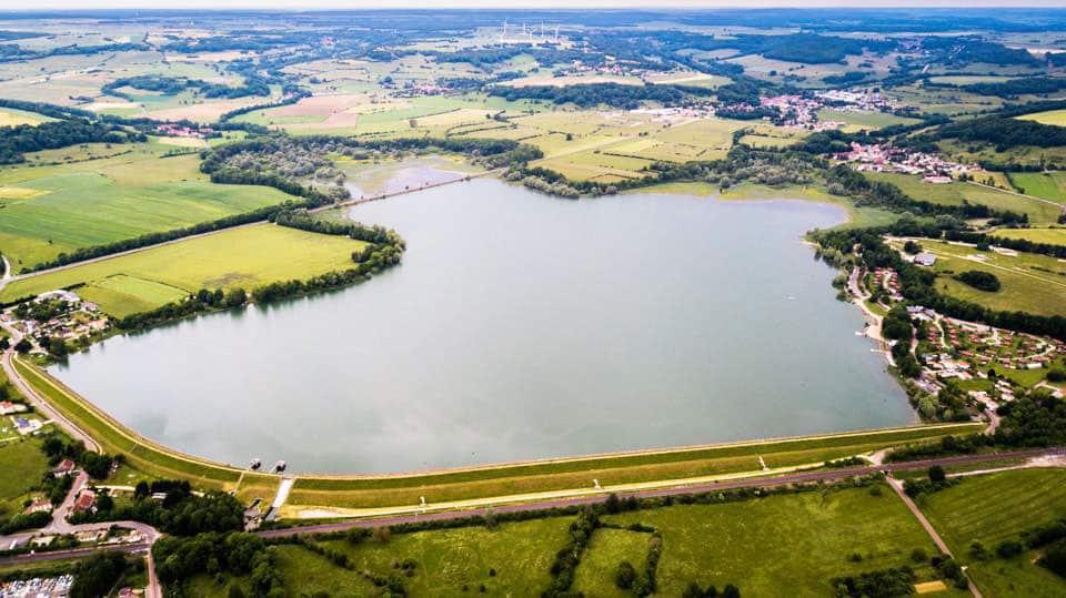 Lac de la Vingeanne vue aerienne
