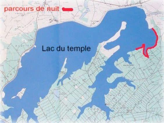 Lac du temple - secteurs de nuit