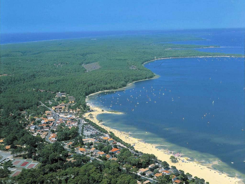 Lac de Lacanau - vue aérienne