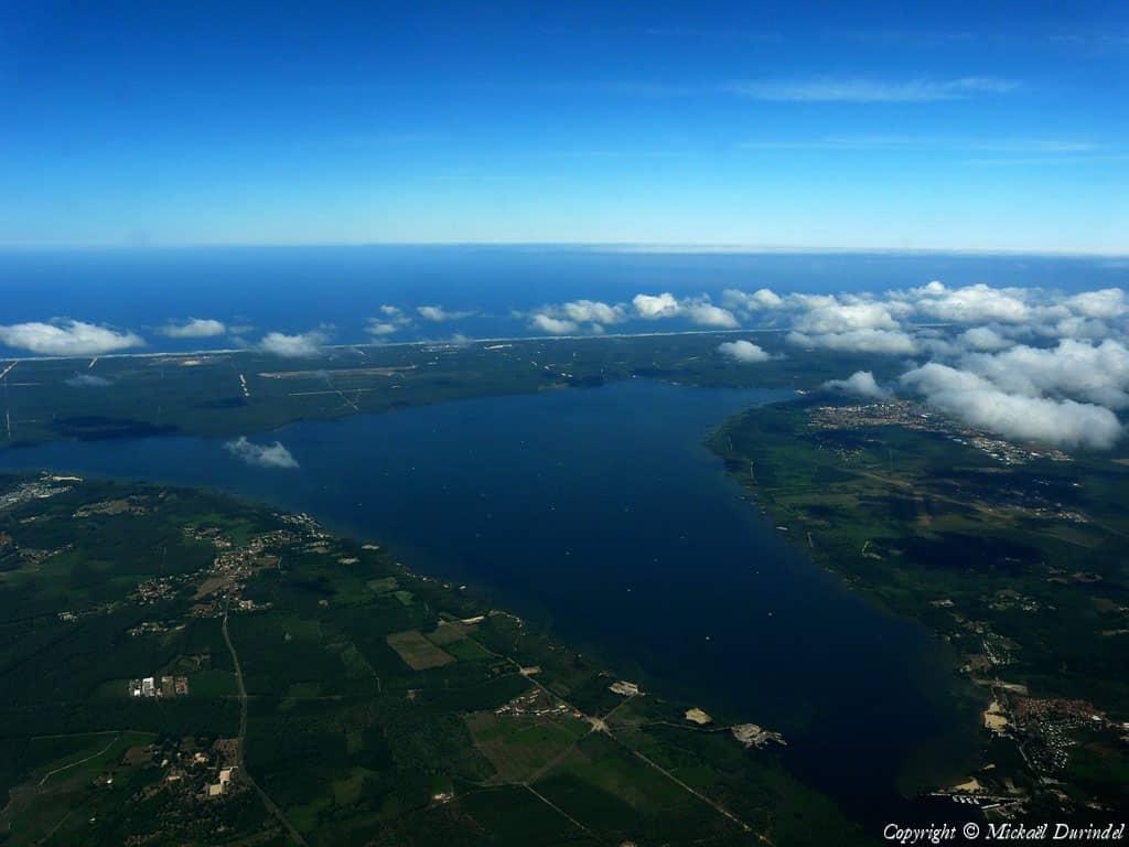 Lac de Biscarosse et de Parentis : vue aérienne
