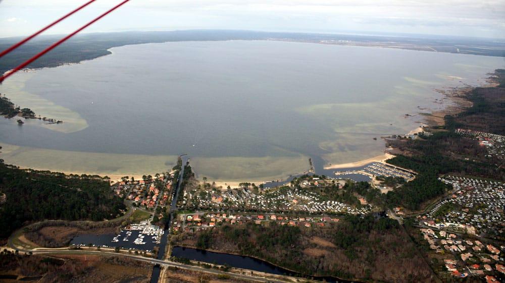 Lac de Cazaux et de Sanguinet vue aérienne
