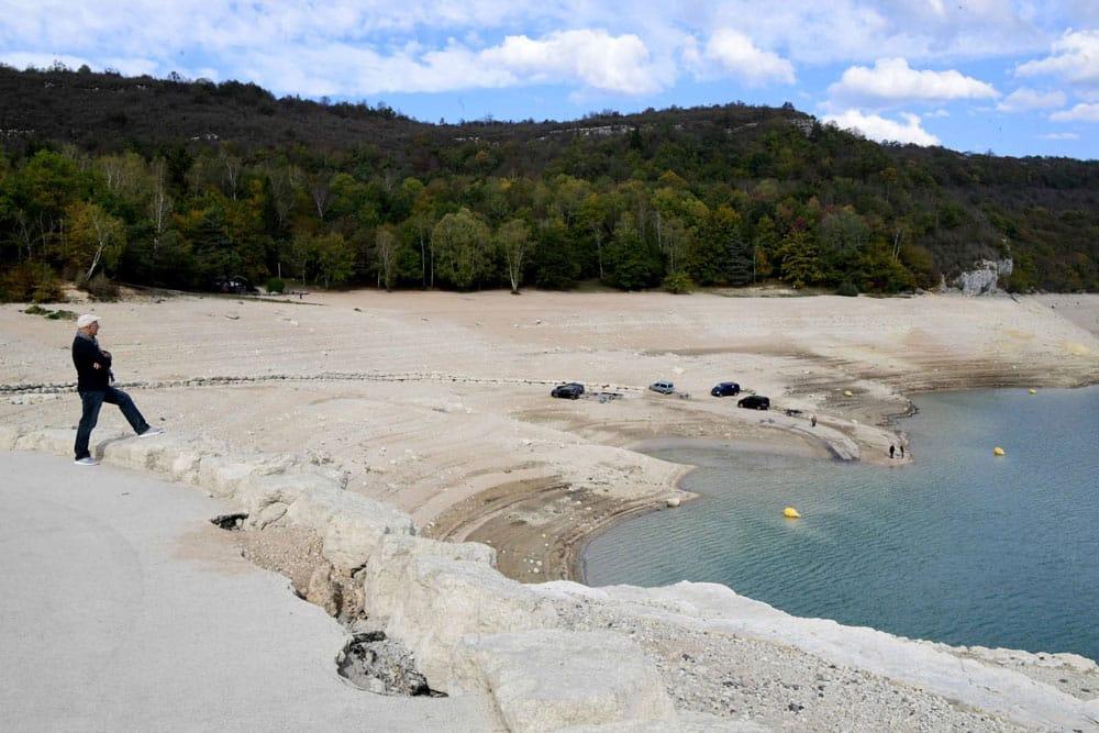 Niveau d'eau du Lac de Vouglans très bas en 2018