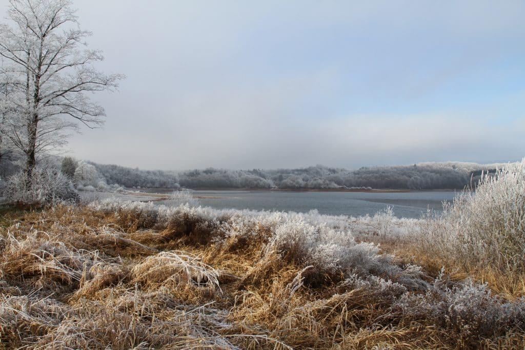 Bassin de Champagney en plein hiver