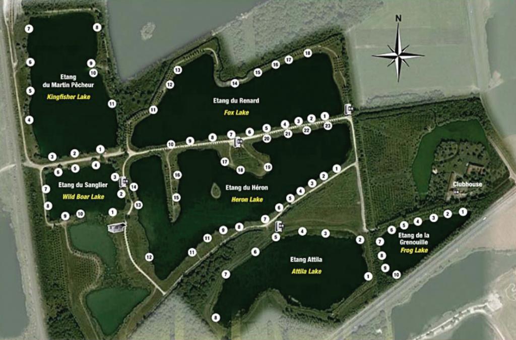 Plan des étangs de l'Abbaye - Abbey lake