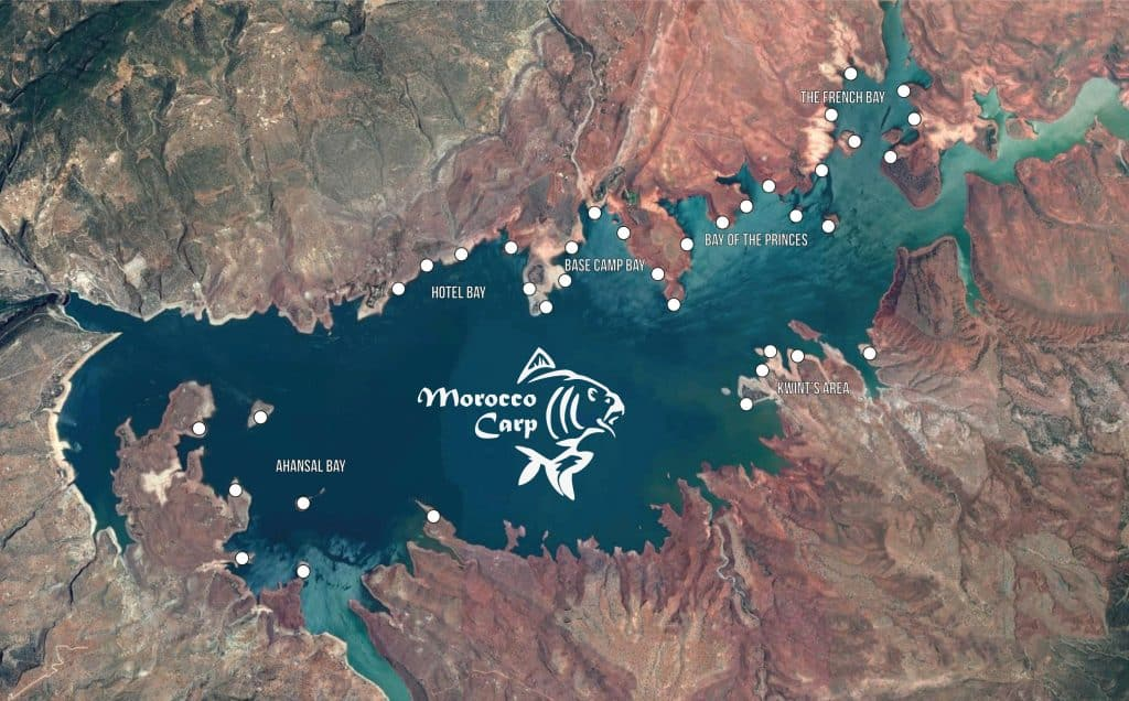 Postes de pêche du lac de Bin el Ouidane