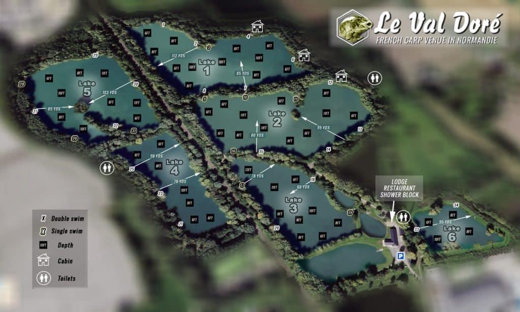 Topographie des étangs le Val Doré