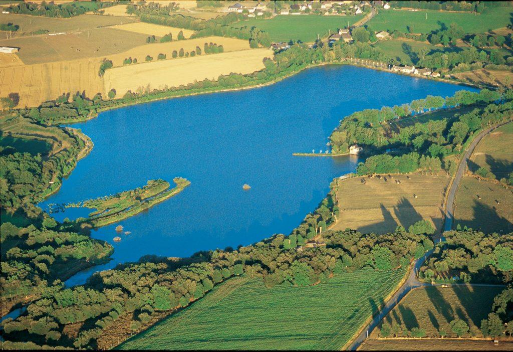 Vue aérienne lac Fishabil