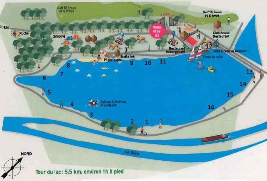 16 postes de peche à la carpe - lac de Moisson Lavacourt