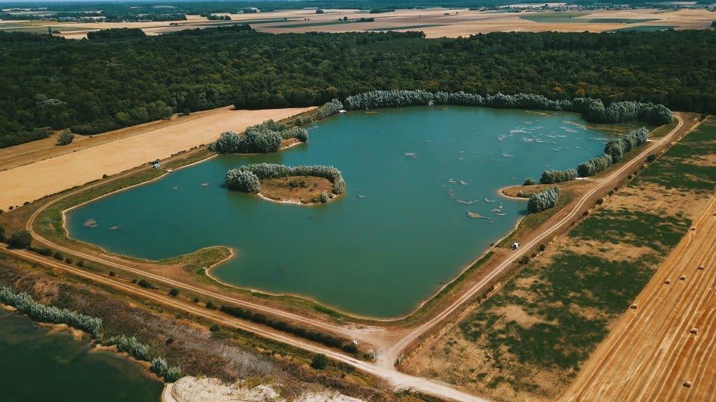 Vue aérienne sur Fully's Lake