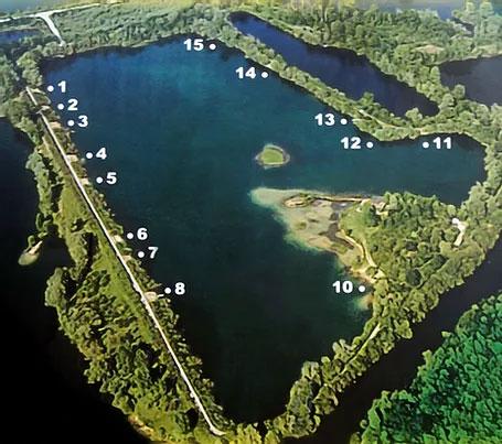 postes étang de Maran