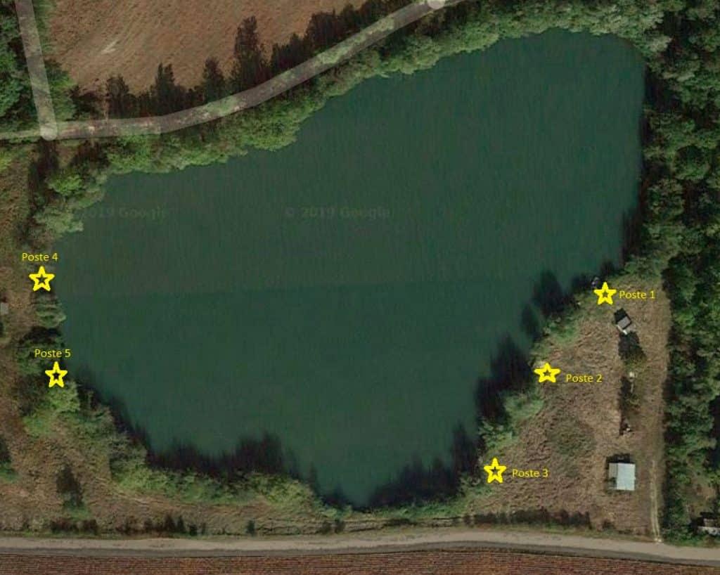 Postes de Cheshire lake