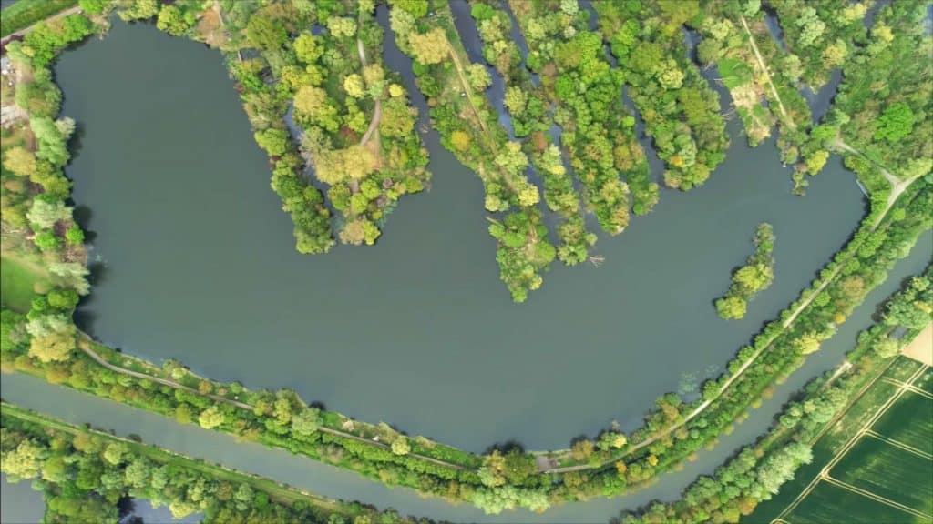 vue aérienne sur le Domaine des iles