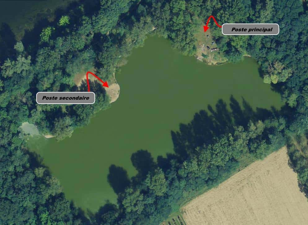 postes de l'étang de la Grande Ile