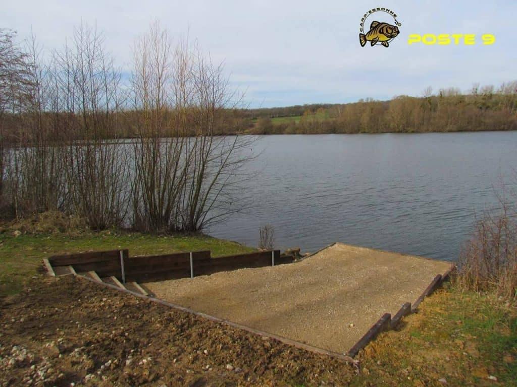 Poste 9 de l'étang Carpanium